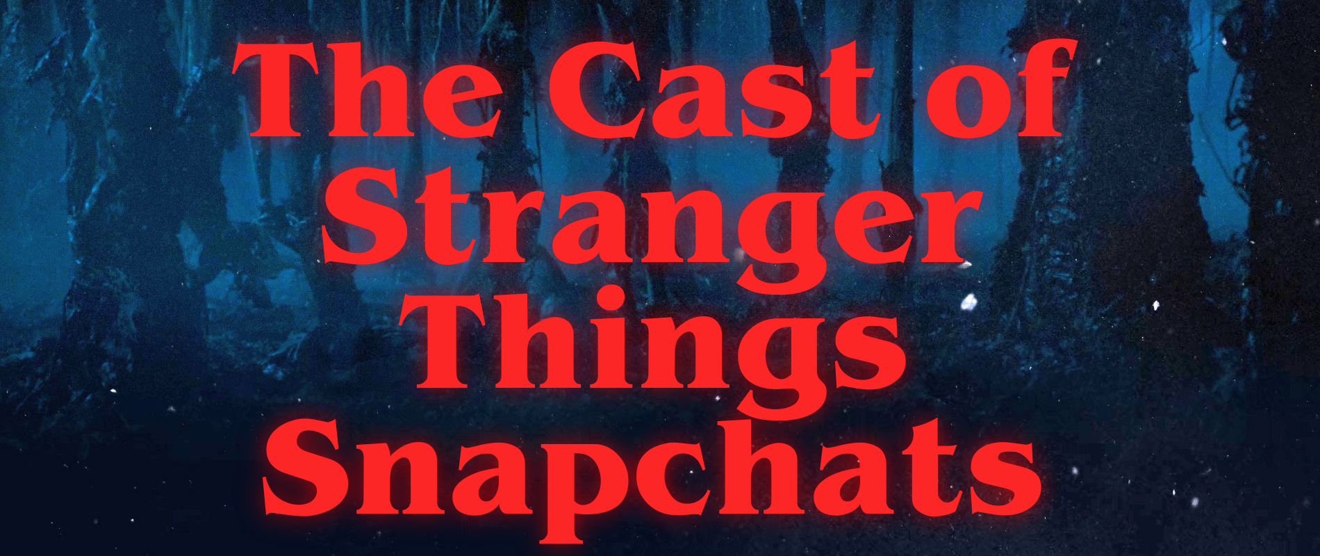 The Cast of Stranger Things Snapchats