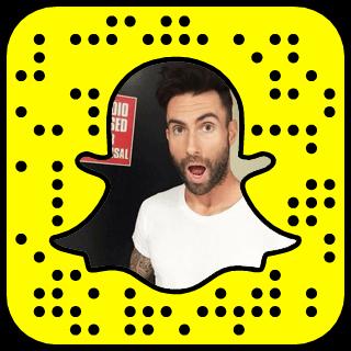 Adam Levine Snapchat username
