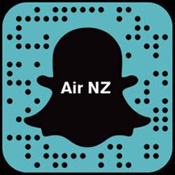 Air New Zealand snapchat