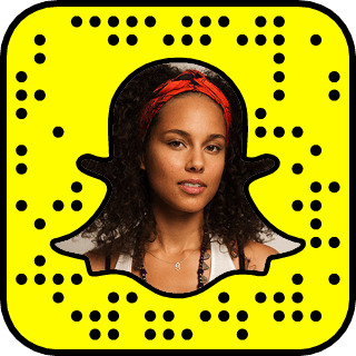 Alicia Keys Snapchat username