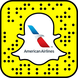 American Airlines Snapchat username