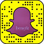 Benefit Cosmetics Snapchat username