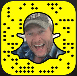Blake Shelton Snapchat username