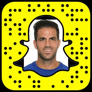 Cesc Fàbregas Snapchat username