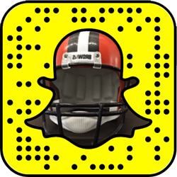 Cleveland Browns Snapchat username