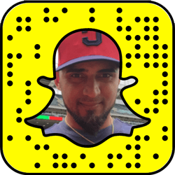 Cleveland Indians Snapchat username