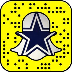 Dallas Cowboys snapchat