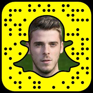 David De Gea Snapchat username