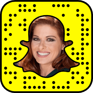 Debra Messing Snapchat username