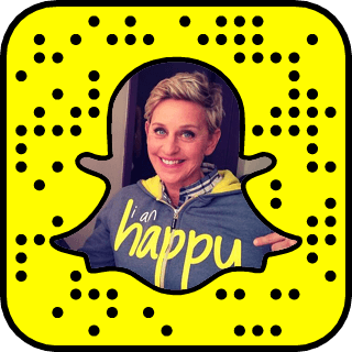 Ellen Degeneres Snapchat username