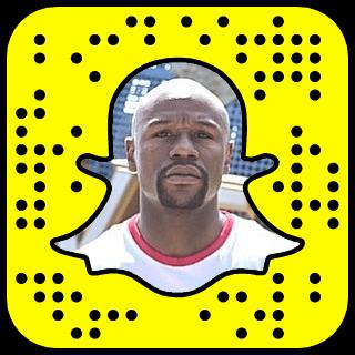 Floyd Mayweather Snapchat username