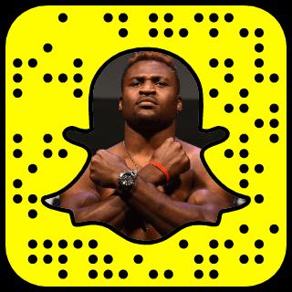 Francis Ngannou Snapchat username