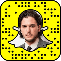 Kit Harington Snapchat username