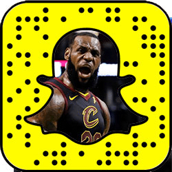 LeBron James snapchat
