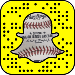 Major League Baseball Snapchat username