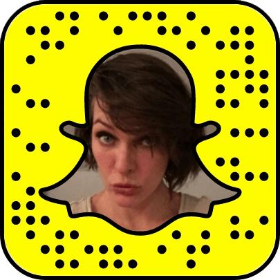 Milla Jovovich Snapchat username