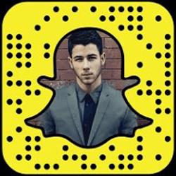 Nick Jonas Snapchat username