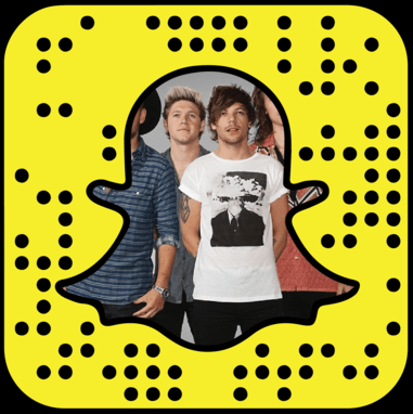 One Direction snapchat