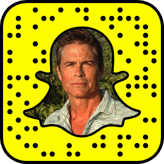 Rob Lowe Snapchat username