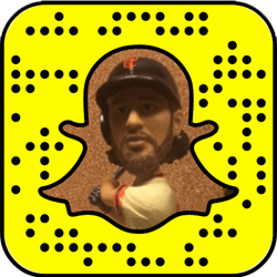 San Francisco Giants Snapchat username