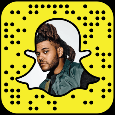 The Weeknd Snapchat username