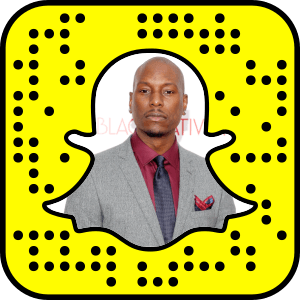 Tyrese Gibson snapchat