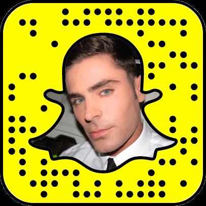 Zac Efron Snapchat username